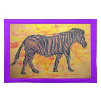 arte púrpura de la cebra manteles