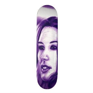 Arte púrpura de la original del retrato de la tablas de patinar