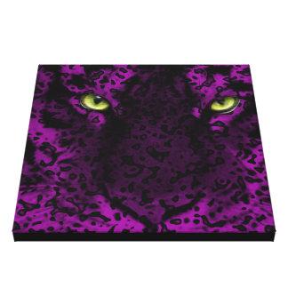 Arte púrpura de la pared del estampado de animales impresión en lona