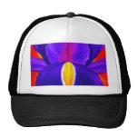 Arte púrpura de la pintura de la flor del iris - m gorros