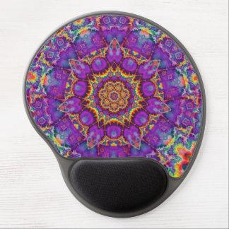 Arte púrpura del caleidoscopio del arco iris de la alfombrillas de ratón con gel