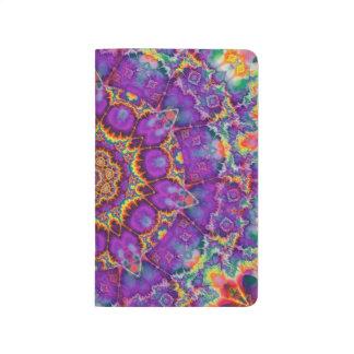Arte púrpura del caleidoscopio del arco iris de la cuadernos grapados