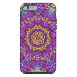 Arte púrpura del caleidoscopio del arco iris de la funda de iPhone 6 tough
