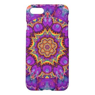 Arte púrpura del caleidoscopio del arco iris de la funda para iPhone 7