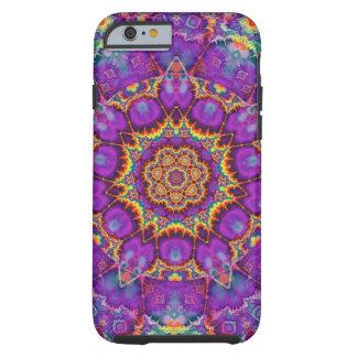 Arte púrpura del caleidoscopio del arco iris de la funda resistente iPhone 6