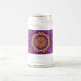 Arte púrpura del caleidoscopio del arco iris de la jarra de cerveza