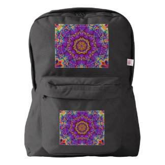 Arte púrpura del caleidoscopio del arco iris de la mochila