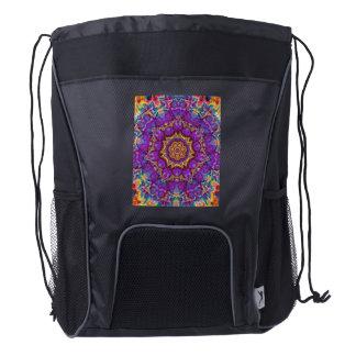 Arte púrpura del caleidoscopio del arco iris de la mochila de cordón