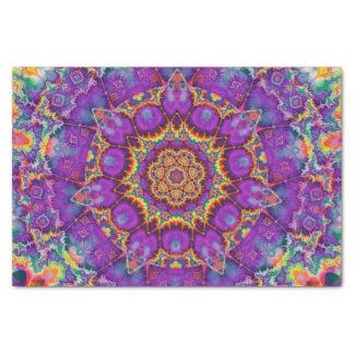 Arte púrpura del caleidoscopio del arco iris de la papel de seda pequeño
