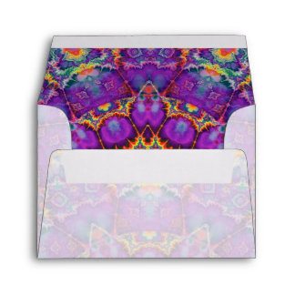 Arte púrpura del caleidoscopio del arco iris de la sobres