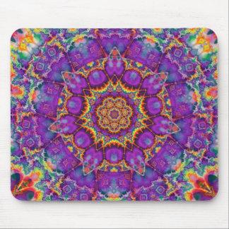 Arte púrpura del caleidoscopio del arco iris de la tapete de ratones