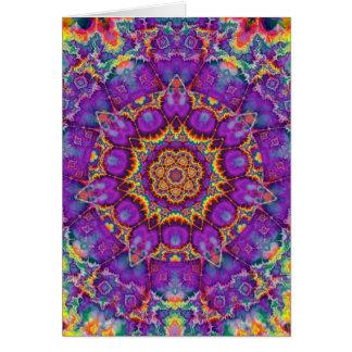 Arte púrpura del caleidoscopio del arco iris de la tarjeta de felicitación
