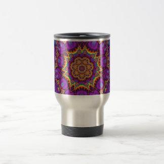 Arte púrpura del caleidoscopio del arco iris de la taza de viaje