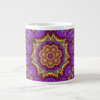 Arte púrpura del caleidoscopio del arco iris de la taza grande