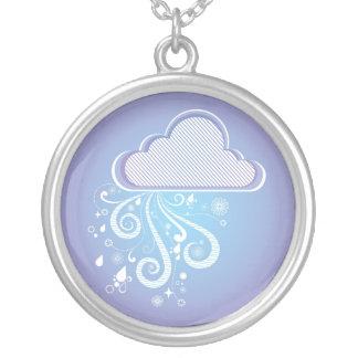 Arte púrpura del día lluvioso joyeria personalizada