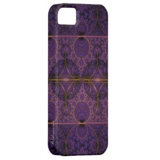 Arte púrpura del fractal del dragón de Mobius iPhone 5 Fundas