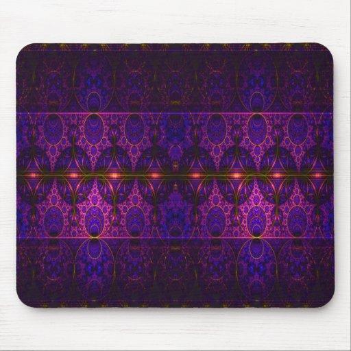 Arte púrpura del fractal del dragón de Mobius Alfombrillas De Ratones