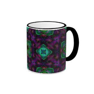 Arte púrpura del fractal del modelo taza de dos colores