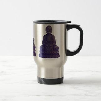 Arte púrpura del pixel de Buda Taza De Viaje