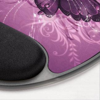 arte púrpura del vector de la mariposa alfombrilla de raton con gel