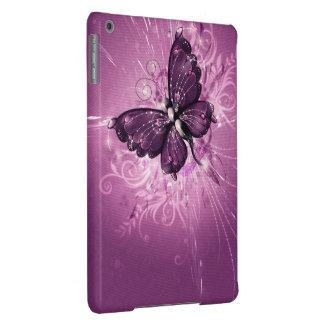 arte púrpura del vector de la mariposa funda para iPad air