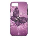 arte púrpura del vector de la mariposa funda iPhone 7