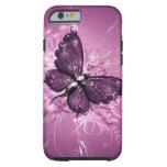 arte púrpura del vector de la mariposa funda resistente iPhone 6