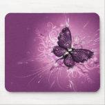 arte púrpura del vector de la mariposa tapetes de ratones