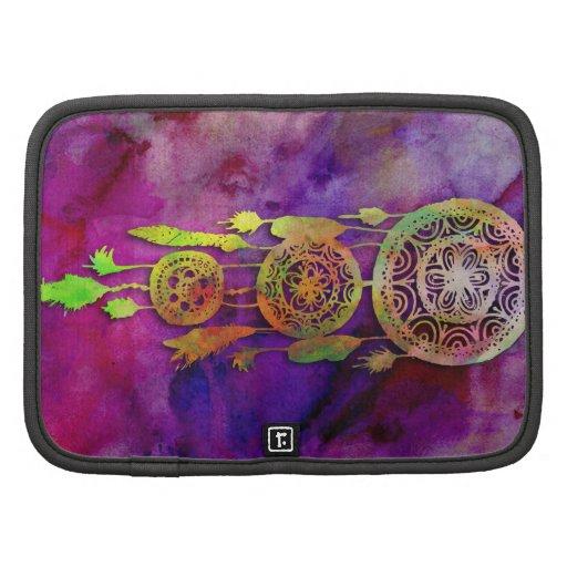 Arte púrpura lindo femenino de Dreamcatcher de la  Planificador