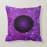 Arte púrpura púrpura de la ilusión óptica de la almohada