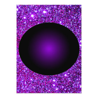 "Arte púrpura púrpura de la ilusión óptica de la invitación 5.5"" x 7.5"""