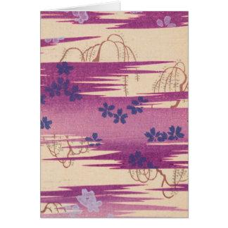 Arte púrpura retro de la acuarela tarjeta de felicitación