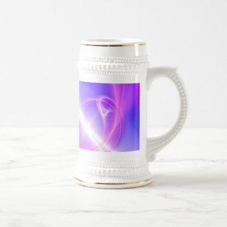 Arte púrpura y azul abstracto del fractal jarra de cerveza