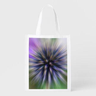 Arte púrpura y verde de la flor del enfoque de bolsa para la compra
