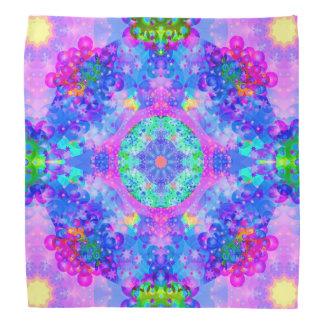 Arte púrpura y verde del fractal del caleidoscopio bandana