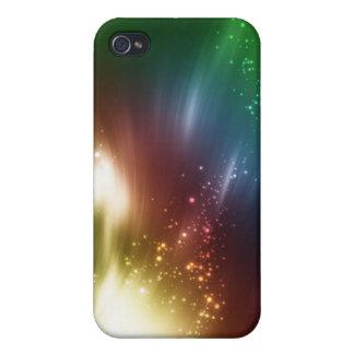 Arte que brilla intensamente impresionante con la  iPhone 4 protector