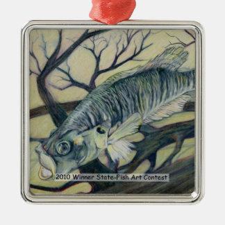 Arte que gana de D. Myers Grade 9 Adorno Navideño Cuadrado De Metal