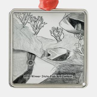 Arte que gana de E. Osurman Grade 6 Adorno Navideño Cuadrado De Metal