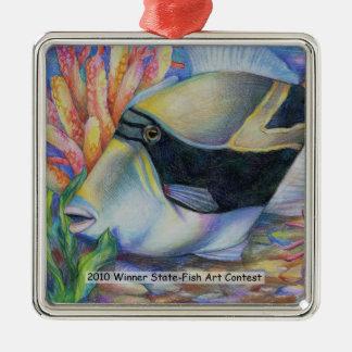 Arte que gana de L. Wang Grade 8 Adorno Navideño Cuadrado De Metal