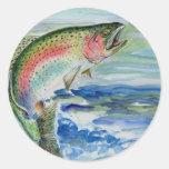 Arte que gana por el grado 7 del S. Yi Pegatina Redonda