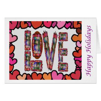 Arte que hace estallar del ojo - amor HappyHoliday Felicitación