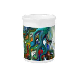 arte quebrado del pavo real de la belleza jarras para bebida