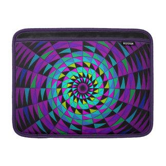 Arte radial multicolor púrpura negro de Kaleidesco Funda Para Macbook Air
