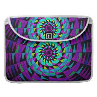 Arte radial multicolor púrpura negro de Kaleidesco Fundas Macbook Pro