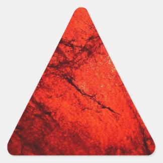 arte radial rojo del resplandor de la falta de def calcomanías de trianguloes personalizadas