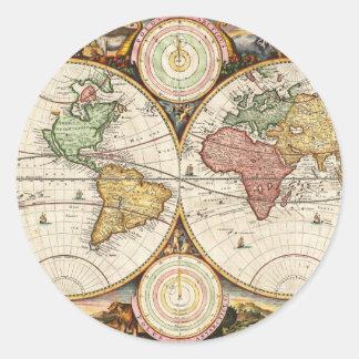 Arte raro del vintage de los hemisferios antiguos