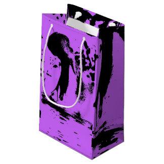 Arte raro - hipopótamo (c) bolsa de regalo pequeña