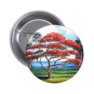 Arte real del árbol de Poinciana Pins