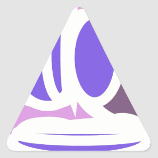 arte redondo abstracto colorido pegatina triangular