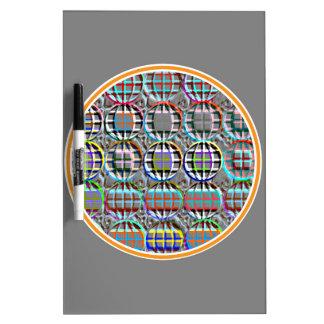 Arte redondo grabado en relieve del círculo de la tableros blancos